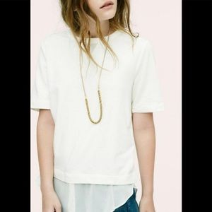 Lou and Grey Pale Pink Duo Tee Blouse